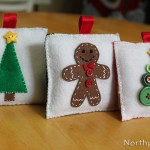 Felt pillow ornaments