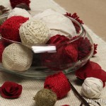 Rustic Fabric Burlap Balls