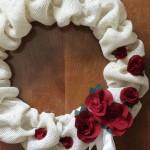 A Burlap Wreath
