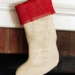 O Stocking Made of Burlap…