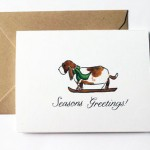 Etsy Item of the Day: Skiing Basset Hound Card