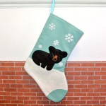 Etsy Item of the Day: Black Bear Christmas Stocking