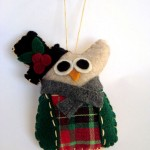 English Caroler Owl Ornament