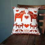 Etsy Item of the Day: Dalahäst & Julbock Pillow