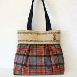 Red & Grey Plaid Handbag