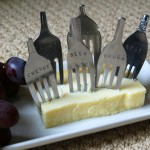 Hand Stamped Vintage Fork Cheese Markers