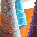 Sparkly Glitter Trees