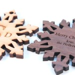 Personalized Hardwood Snowflake Ornament