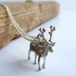 Moose Reindeer Necklace