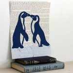 Penguin Art: Penguin Couple on Ice