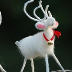 Handmade White Reindeer