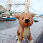 Raymond in front of the Tower Bridge during the Olympics