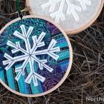 A Snowflake Hoop Ornament