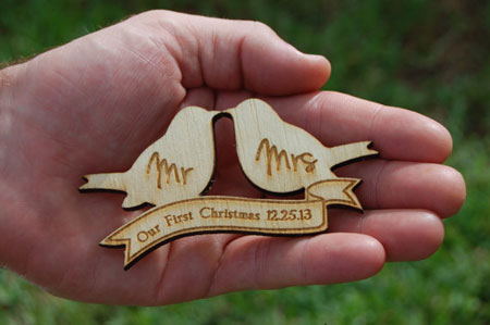 our first christmas married ornament 2013