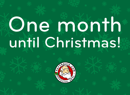 One month until Christmas!
