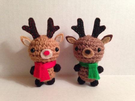 Christmas Reindeer Amigurumi : Etsy Item of the Day: Wee Amigurumi Reindeer Elf Blog