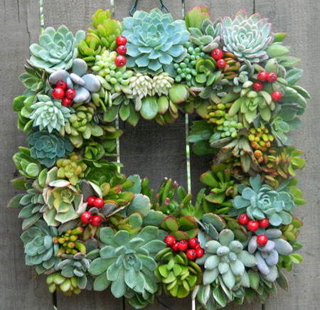 Etsy Item Of The Day Square Succulent Wreath Elf Blog