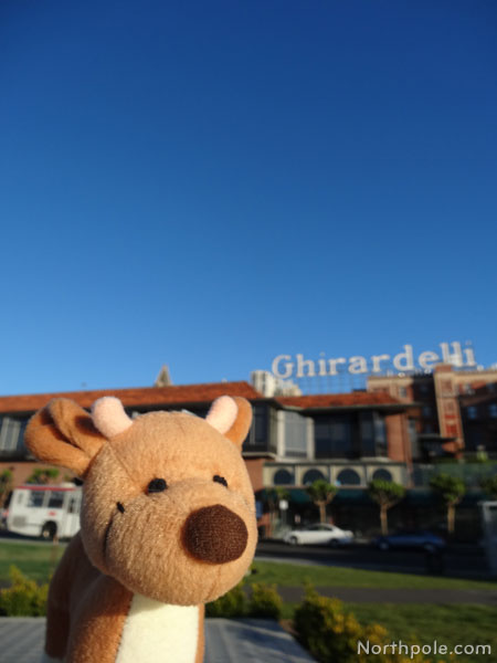 Raymond outside Ghirardelli Square