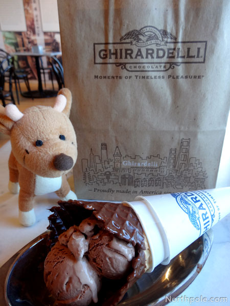 Raymond and a Ghirardelli ice cream cone