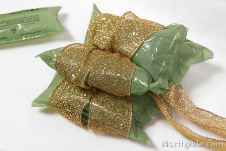 Use airpockets to keep bows from getting squished in storage.