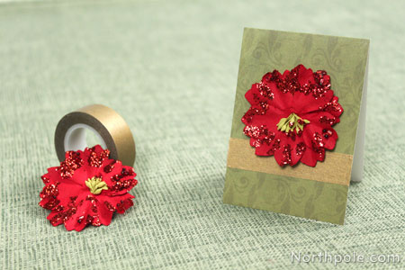 Add washi tape and a paper flower.