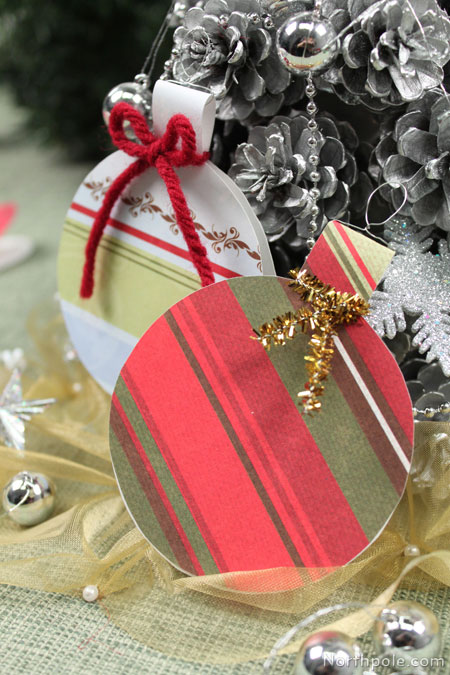 Make ornament shaped gift tags