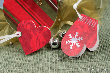 Cut other shapes like mittens, hearts, or stockings!