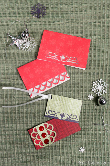 Have fun using different paper punches! If you don't have many paper punches, borrow from a friend. Invite your buddies over to make gift tags, cards, etc.