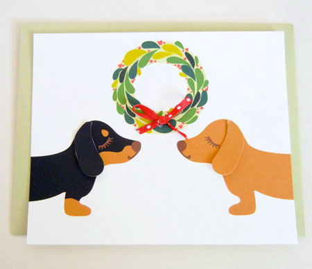 Dachshunds Christmas Card