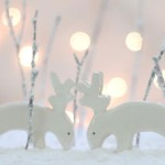 White Deer Decorations
