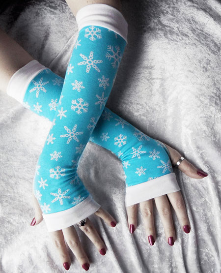 Frozen Memory Arm Warmers ~ Etsy Seller: Zen and Coffee