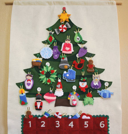 Christmas Tree Advent Calendar ~ Etsy Seller: The Lullaby Loft
