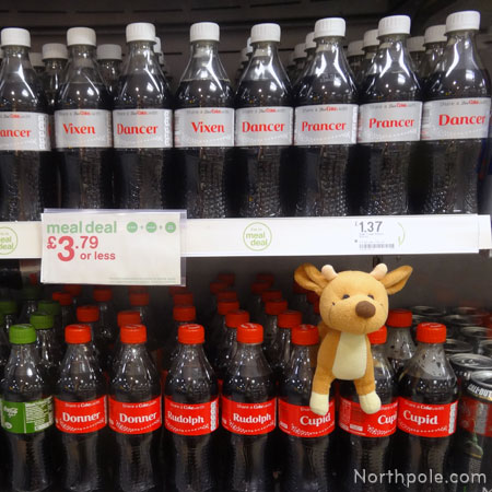 Christmas Reindeer Coke Bottles - London
