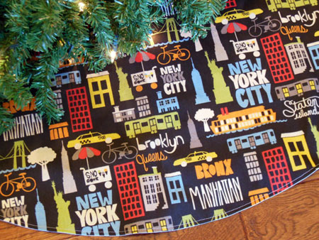 addition to your christmas tree made with 100 cotton the skirts bright design features big apple icons such as the statue of liberty taxi cabs - Christmas Tree Skirts Etsy