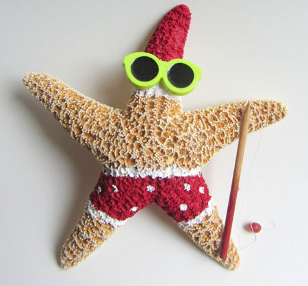 Fishing Starfish Santa ~ Etsy Seller: Cereus Art