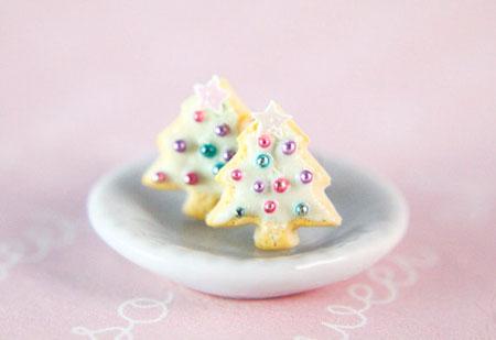 Christmas Tree Sugar Cookie Earrings