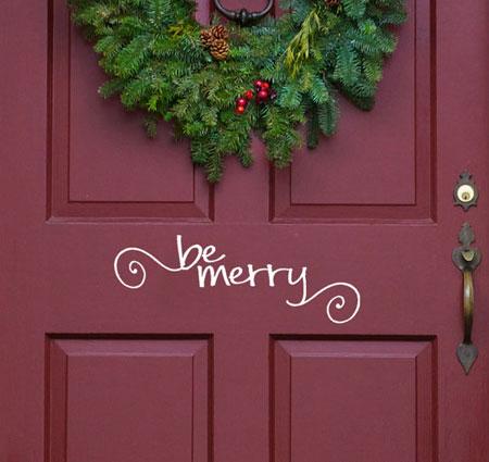 Be Merry Door Decal