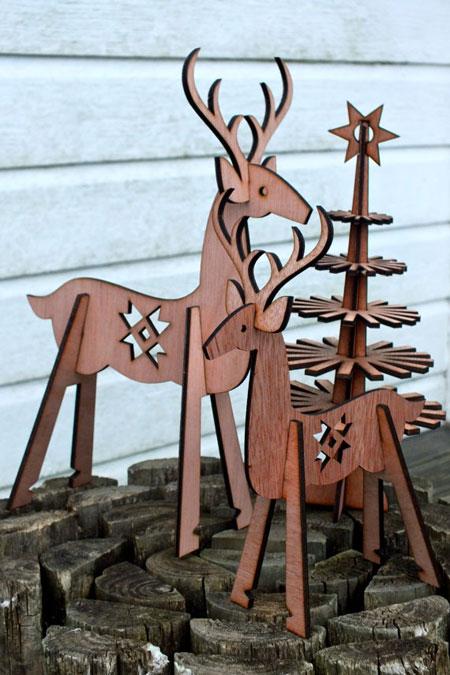 Laser Cut Christmas Reindeer
