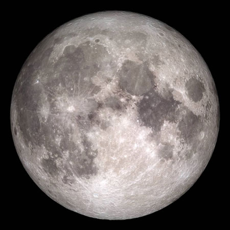 Full Moon on Christmas Morning 2015