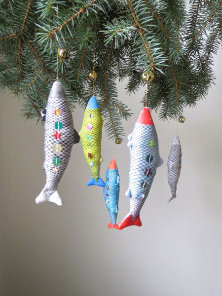 Sequin Fish Ornament