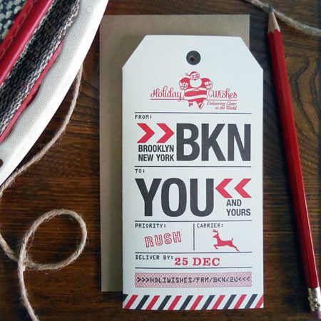 Letterpress-Printed Brooklyn Gift Tag