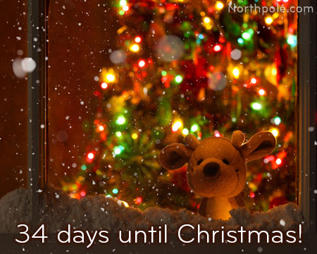 34 days until Christmas!