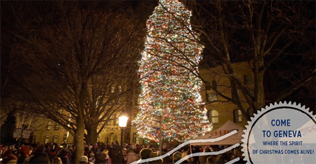 Christmas Tree Lighting - Geneva, IL
