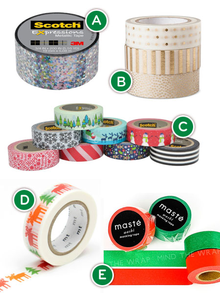 Wrap Your Holidays with Washi Tape