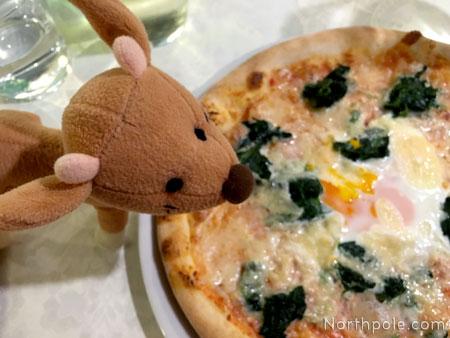 Pizza Con Spinaci e Uovo