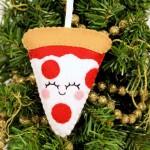 Felt Pizza Ornament