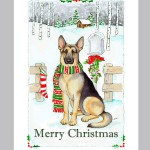 Boxed Set of German Shepherd Dog Christmas Cards
