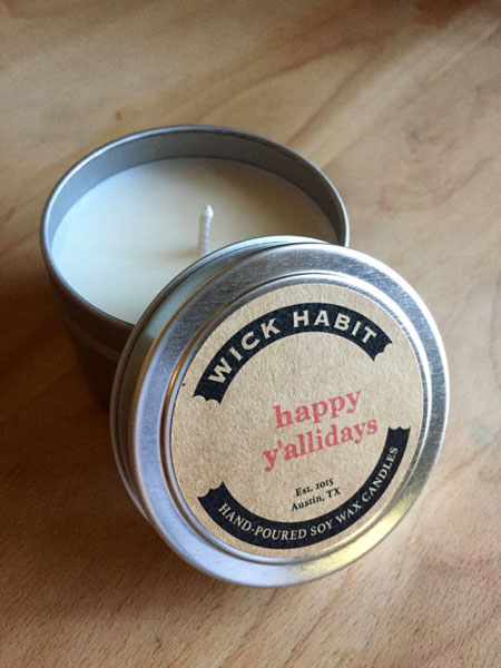 Happy Y'allidays Soy Candle
