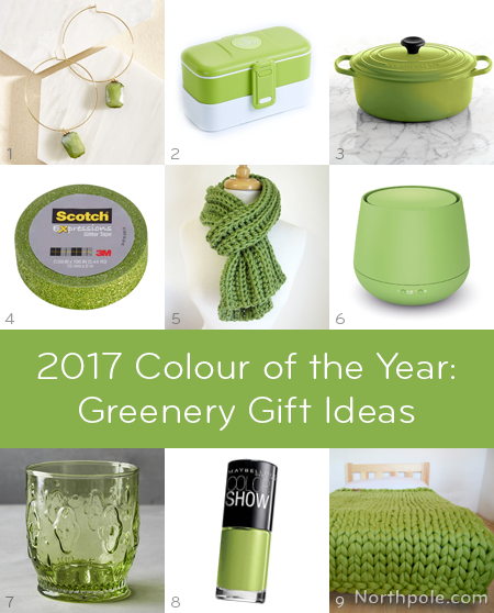 Pantone Greenery Gift Ideas