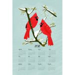 2018 Calendar with Cardinals